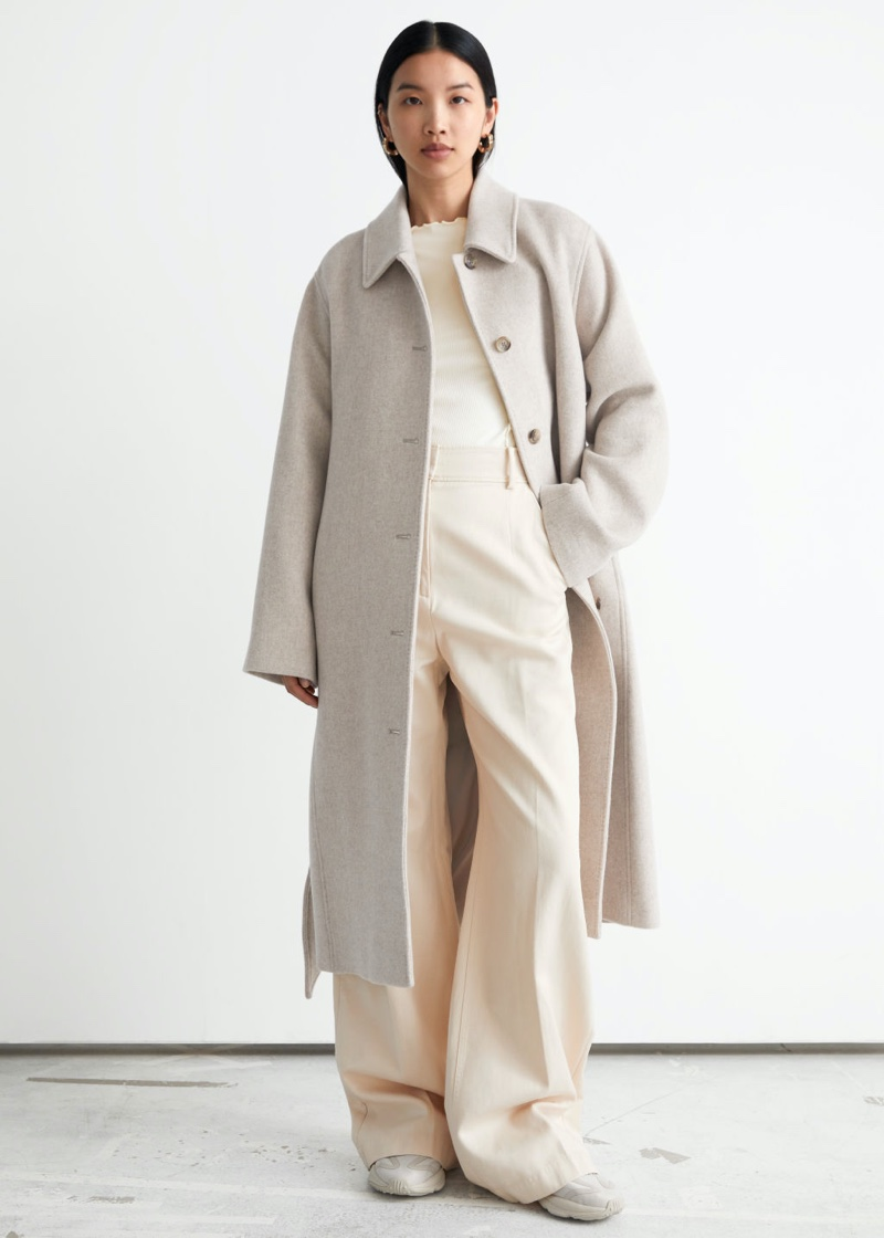 & Other Stories Voluminous Belted Single Breasted Coat $279