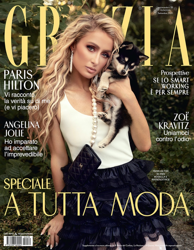 Paris Hilton on Grazia Italy September 2020 Cover.
