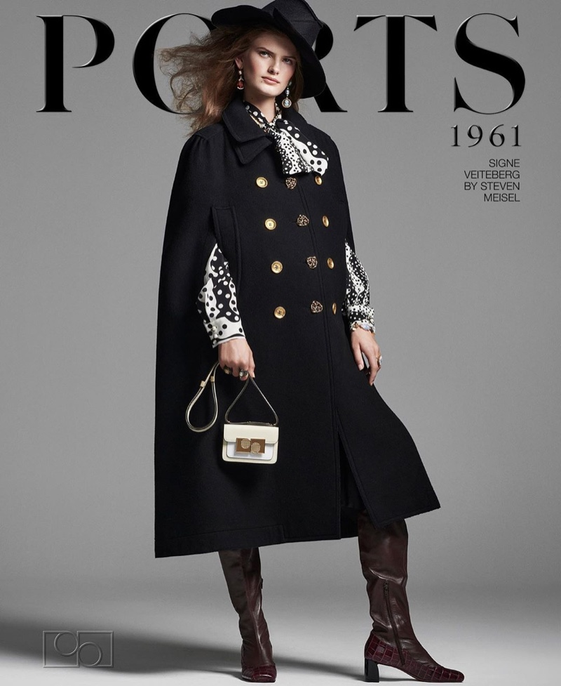 Signe Veiteberg poses for Ports 1961 fall-winter 2020 campaign.