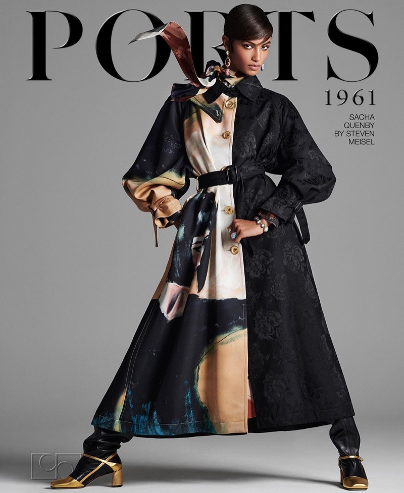 Sacha Quenby stars in Ports 1961 fall-winter 2020 campaign.