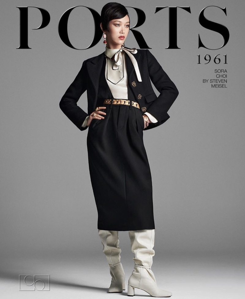 Sora Choi fronts Ports 1961 fall-winter 2020 campaign.
