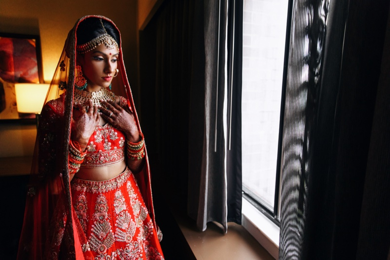Red Indian Bridal Look Fashion Jewelry