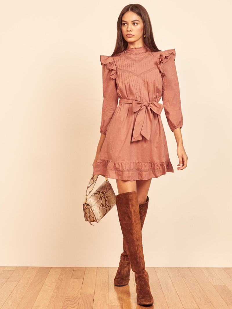 Reformation Dinah Dress in Praline $278