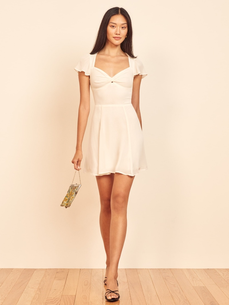 Reformation Kenni Dress in Ivory $198
