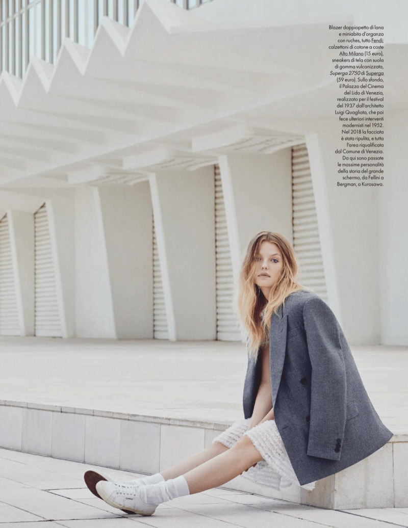 Roos Abels Channels 1960s Fashion for ELLE Italy
