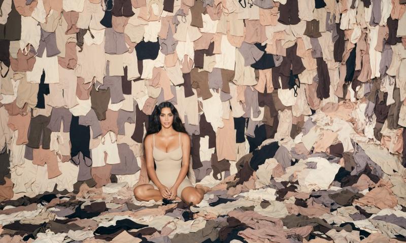 Kim Kardashian stars in SKIMS one year anniversary campaign.