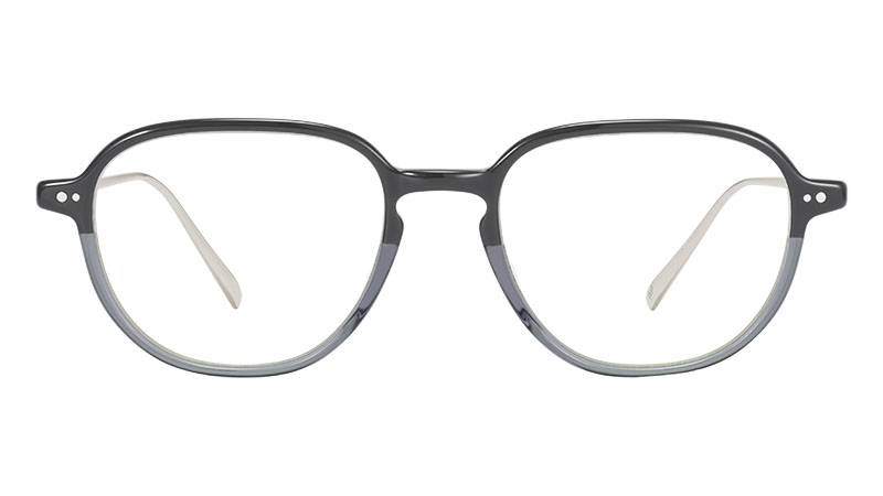 Warby Parker Beasley Glasses in Stone Fade with Polished Silver $145