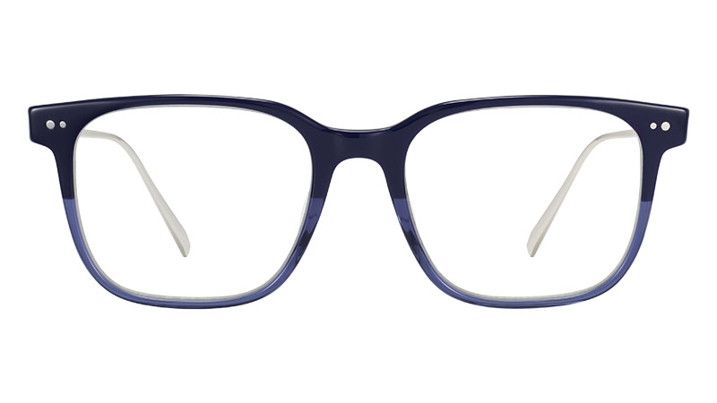 Warby Parker Caleb Glasses in Midnight Fade with Polished Silver $145