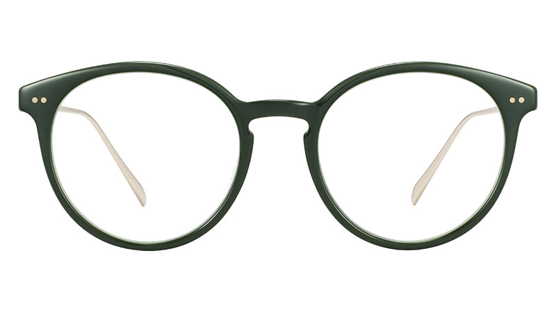 Warby Parker Langley Glasses in Magnolia Green with Polished Gold $145
