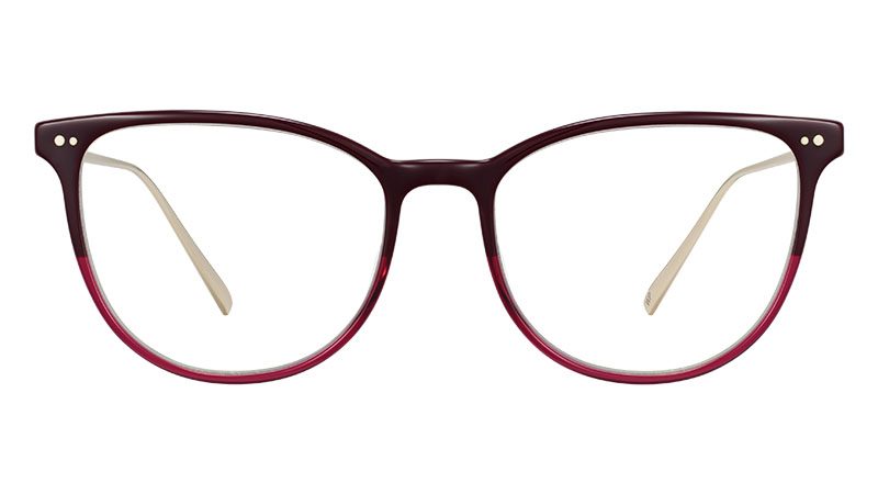 Warby Parker Maren Glasses in Oxblood Fade with Polished Gold $145