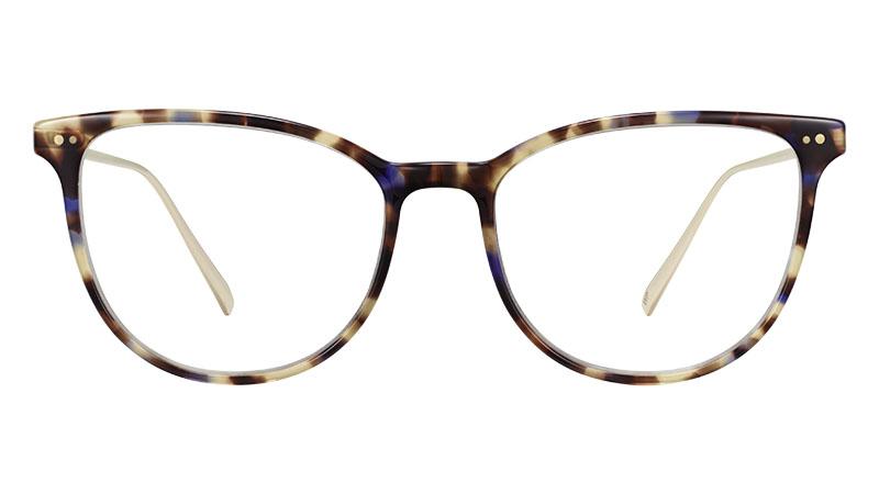 Warby Parker Maren Glasses in Violet Magnolia with Polished Gold $145