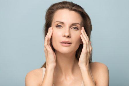 Woman Touching Eyes Model 30s Beauty Skin
