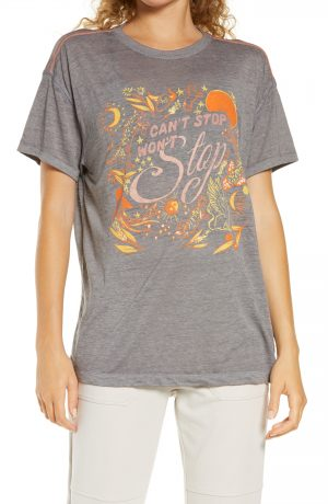 Women's Free People Fp Movement Keep Rolling Graphic Tee, Size X-Small - Purple