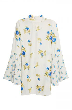 Women's Free People Tate Floral Tunic Top, Size X-Small - Ivory