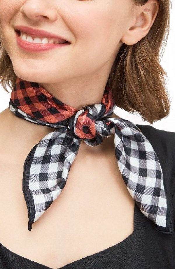 Women's Kate Spade New York Garden Gingham Bandana, Size One Size - Pink