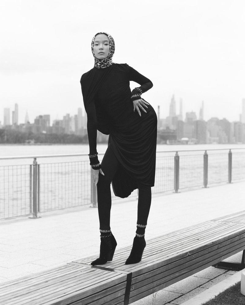 Xiao Wen Ju Poses in Eclectic Styles for Harper's Bazaar China