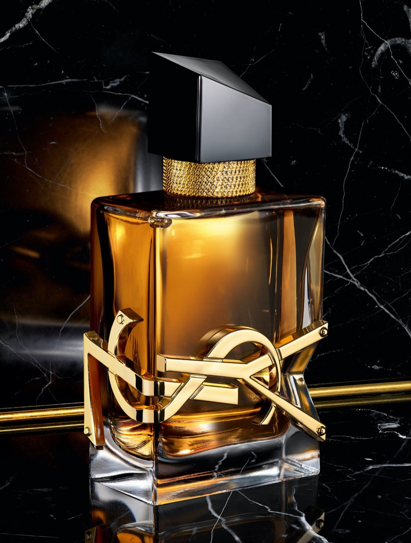 A look at YSL's Libre Intense fragrance bottle.