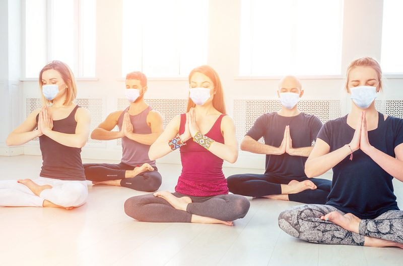 Yoga Class Wearing Masks