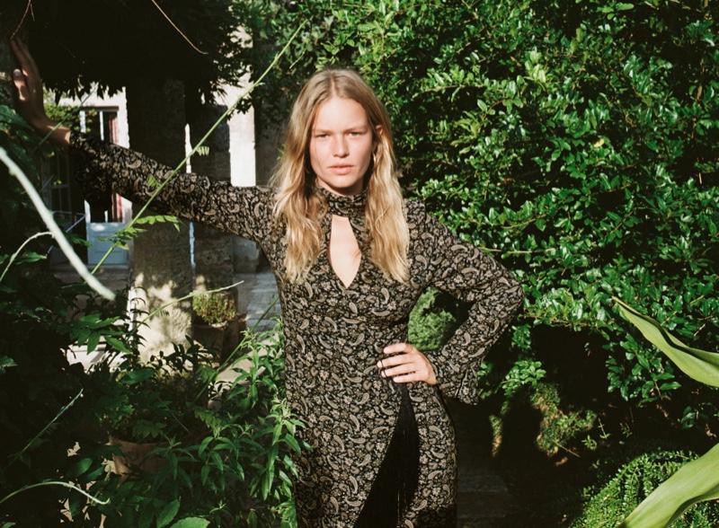 Zara Printed Dress with Fringe.