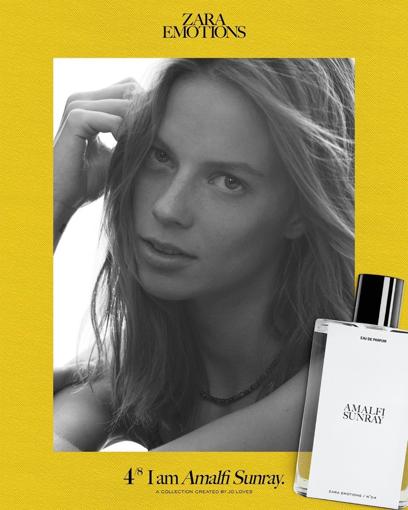 Lexi Boling stars in Zara Emotions fragrance campaign.