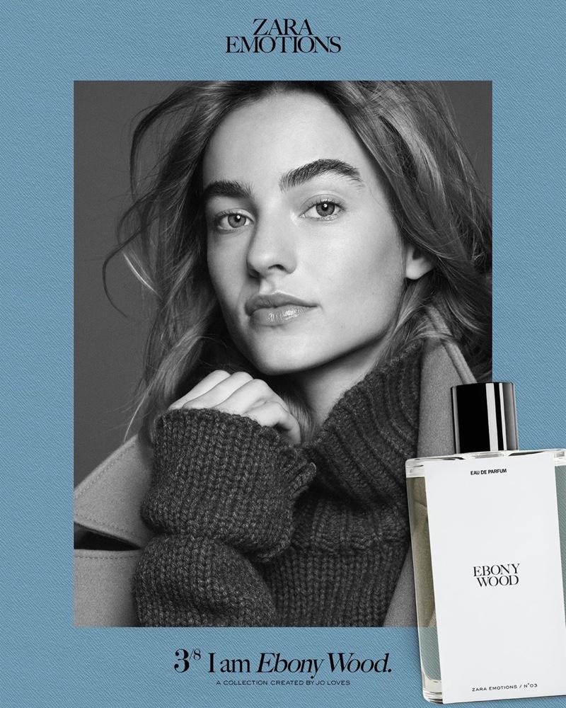 Maartje Verhoef fronts Zara Emotions fragrance campaign.