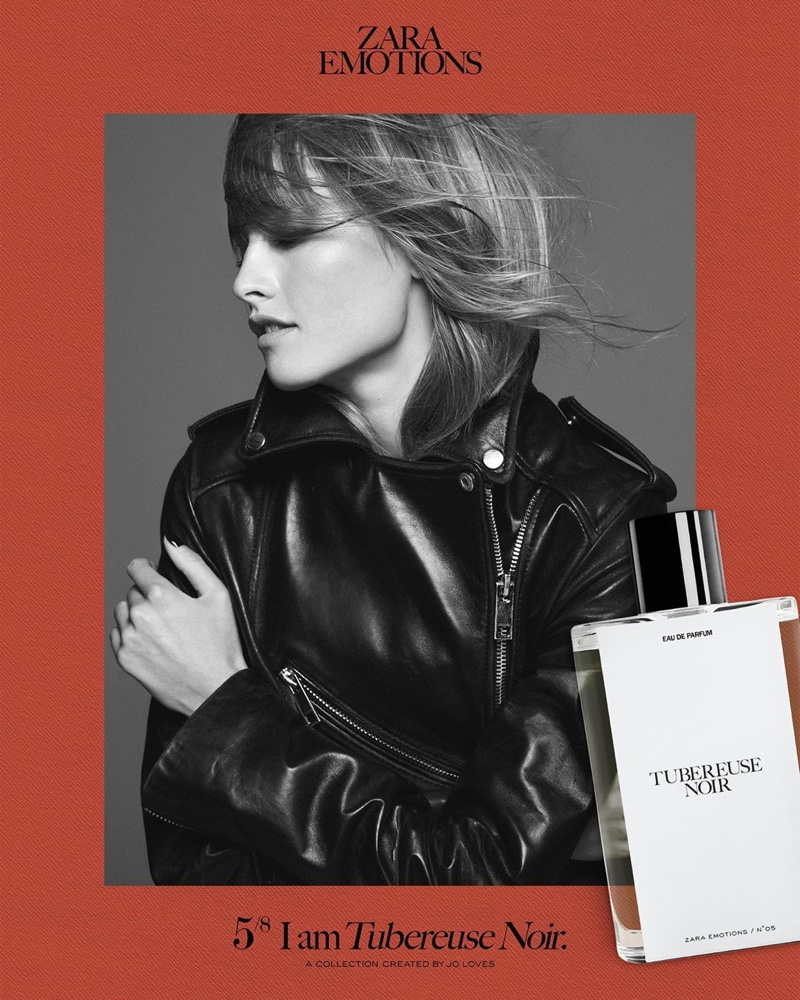 Klara Kristin poses for Zara Emotions fragrance campaign.