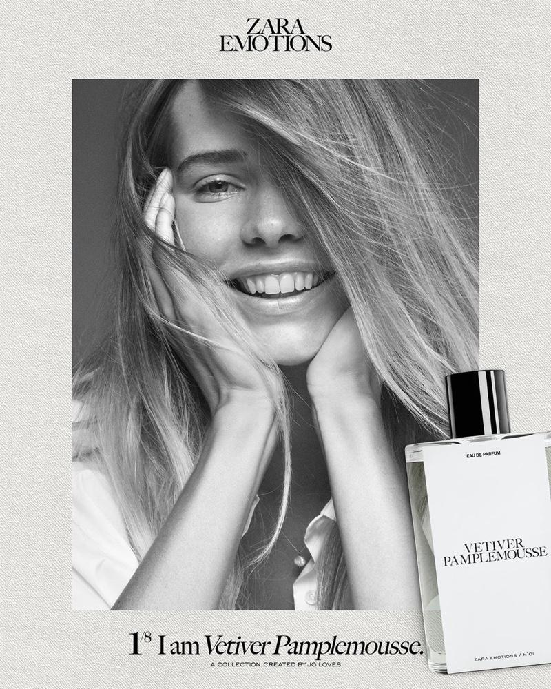 Marta Ortega Perez is all smiles in Zara Emotions fragrance campaign.