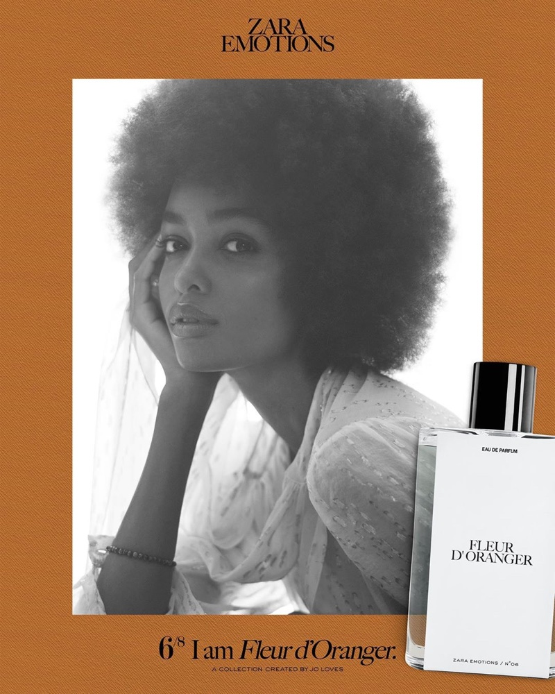 Blesnya Minher appears in Zara Emotions fragrance campaign.