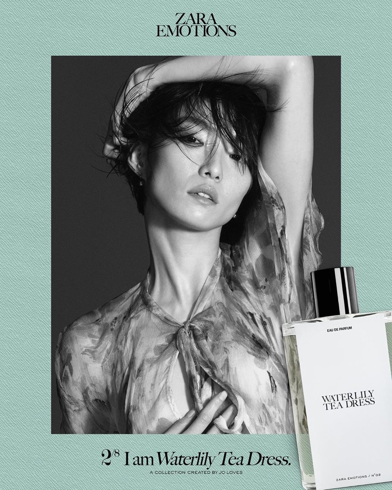 Moon Kyu Lee fronts Zara Emotions fragrance campaign.