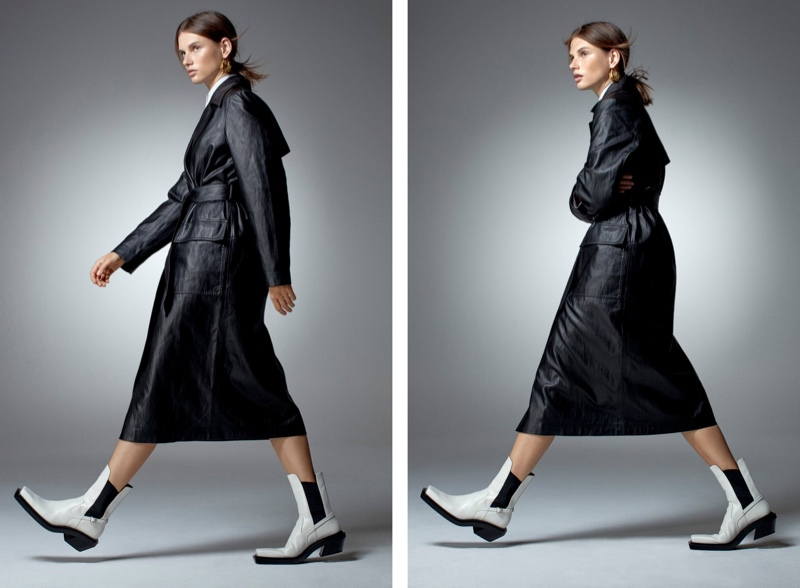 Zara Limited Edition Faux Leather Trench Coat.