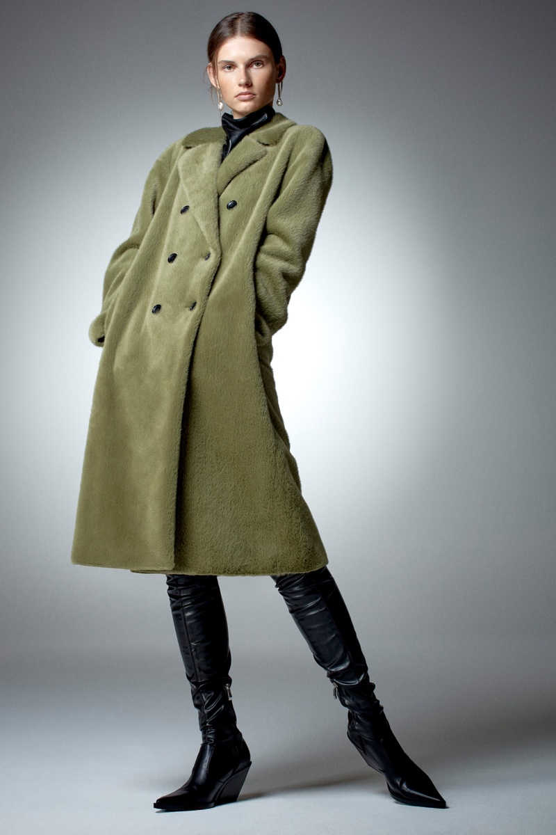 Giedre Dukauskaite Layers Up in Zara's Fall Coats