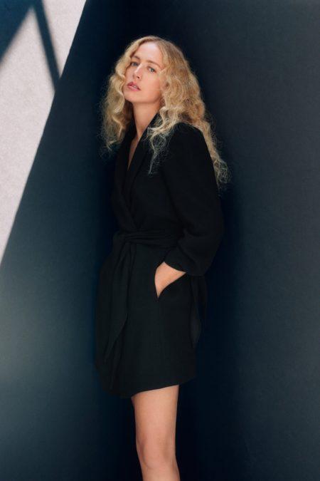 Zara Tied Sleeve Frock Coat.