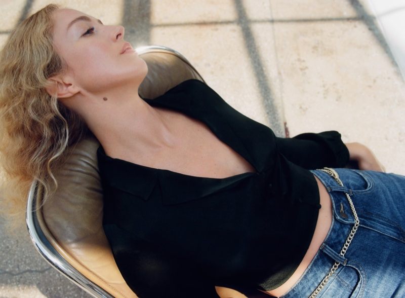 Raquel Zimmermann Poses in Zara's Minimal Outfits