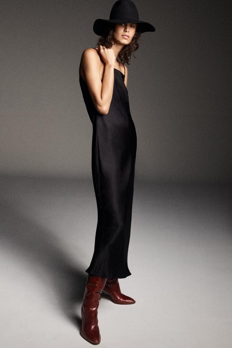 Zara Satin Effect Mini Dress.