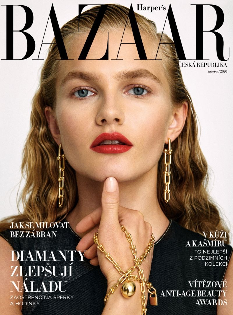 Aneta Pajak Models Elegant Looks for Harper's Bazaar Czech