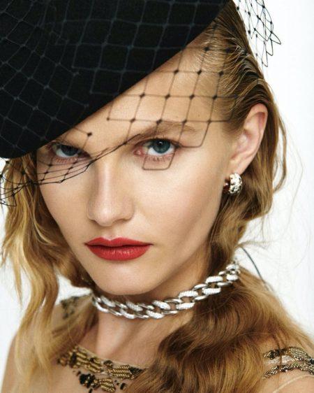 Aneta Pajak Models Elegant Looks for Harper's Bazaar Czech