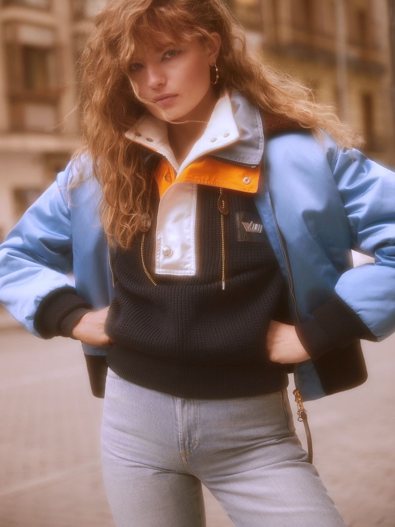 Anna Mila Guyenz Sports 80s Outerwear for InStyle Spain