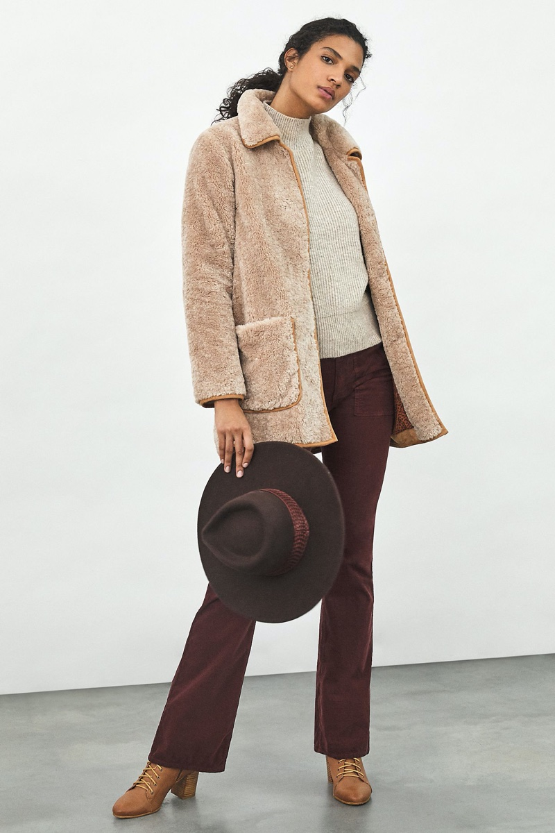 Anthropologie Amina Sherpa Coat $268