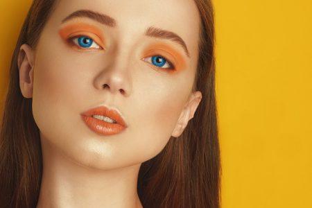 Beauty Model Blue Contact Lenses Colored