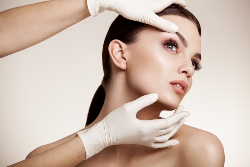 Beauty Woman Plastic Surgery Gloves Doctor