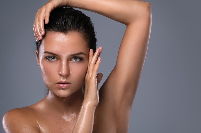 Brunette Model Beauty Oily Skin Hair