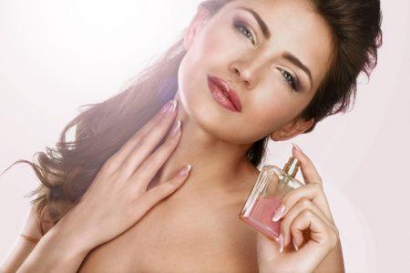 Brunette Model Fragrance Perfume Bottle Beauty