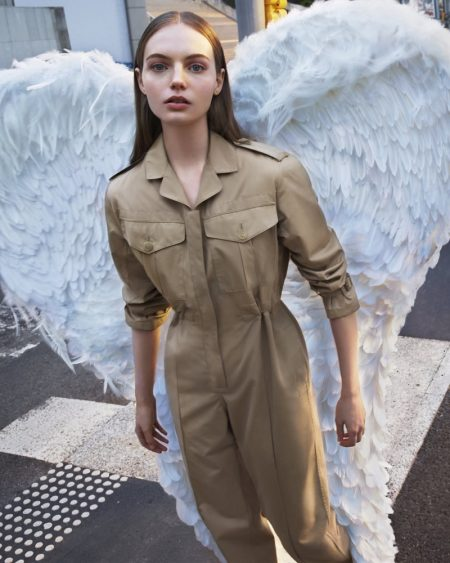 Fran Summers stars in Burberry Her fragrance campaign.
