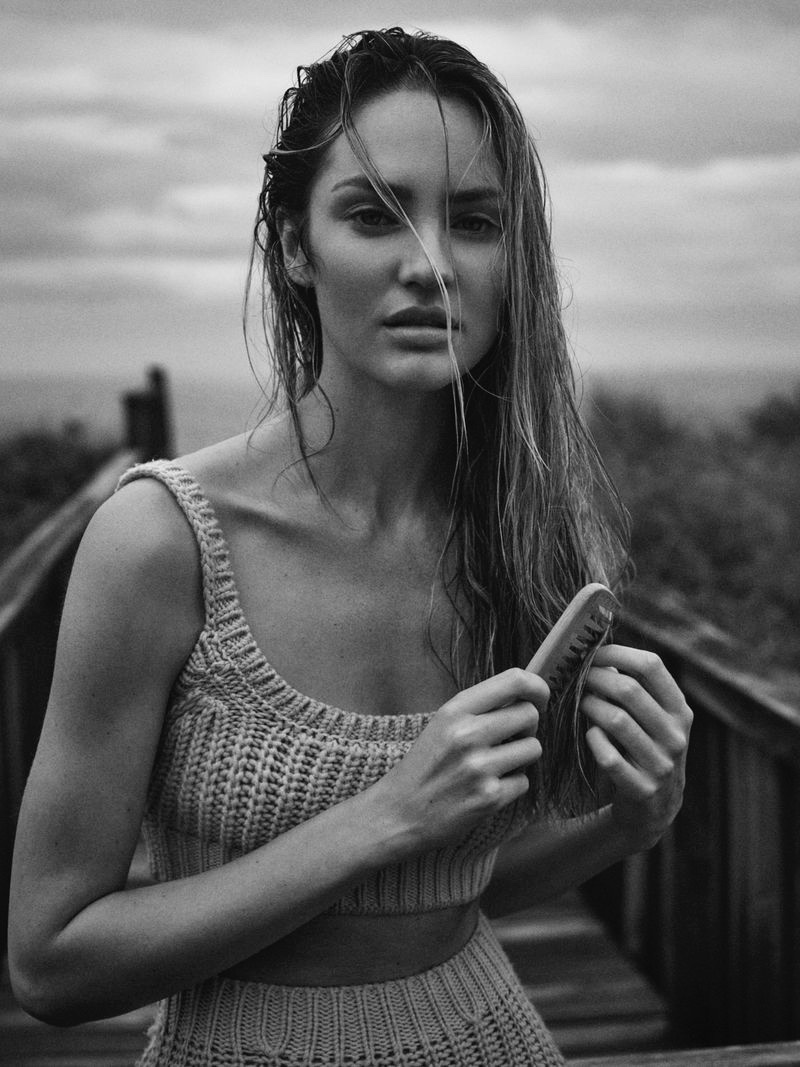 Candice Swanepoel Models Relaxed Styles for Vogue Russia
