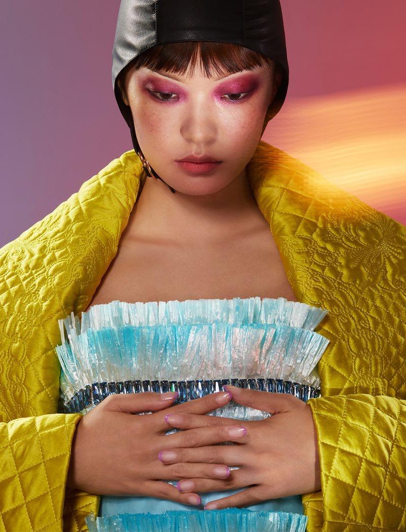 Chen Xue Models Eye-Catching Beauty for Vogue Hong Kong