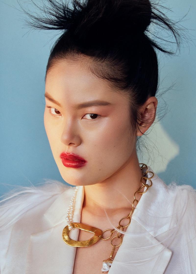Chen Yu Wears Glam Beauty for ELLE Vietnam