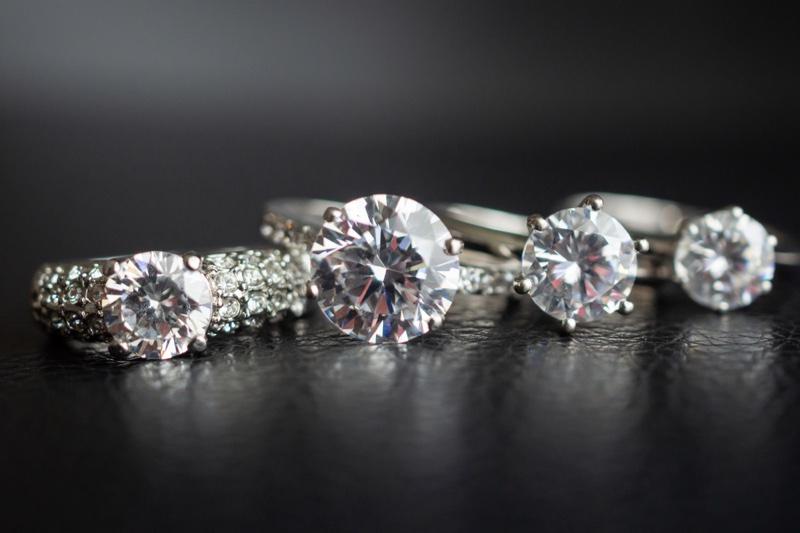 Diamond Rings Closeup Concept