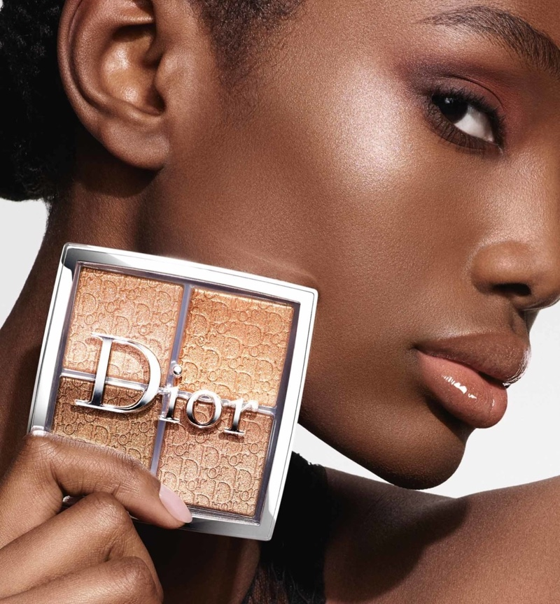 Imari Karanja gets her closeup in Dior Makeup Backstage Holiday Glow 2020 campaign.