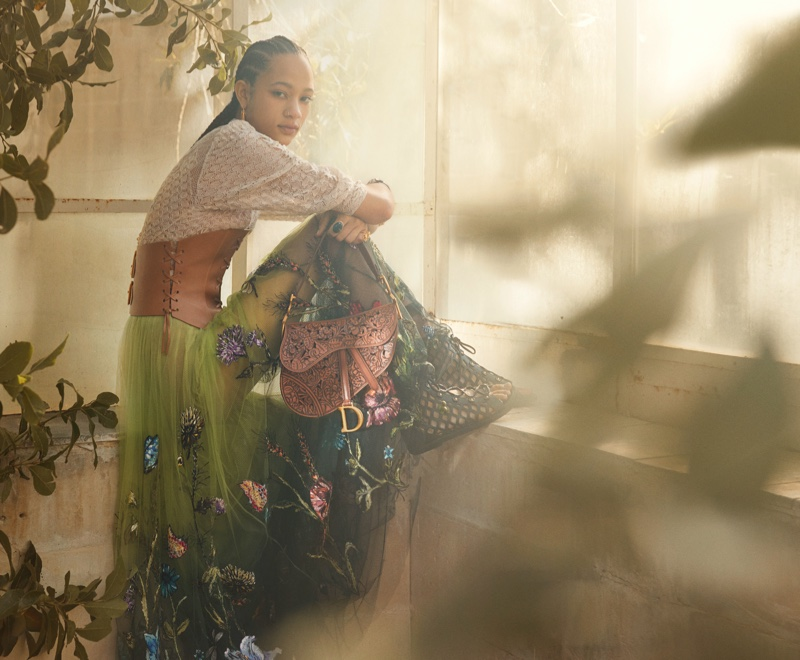 Selena Forrest appears in Dior resort 2021 campaign.