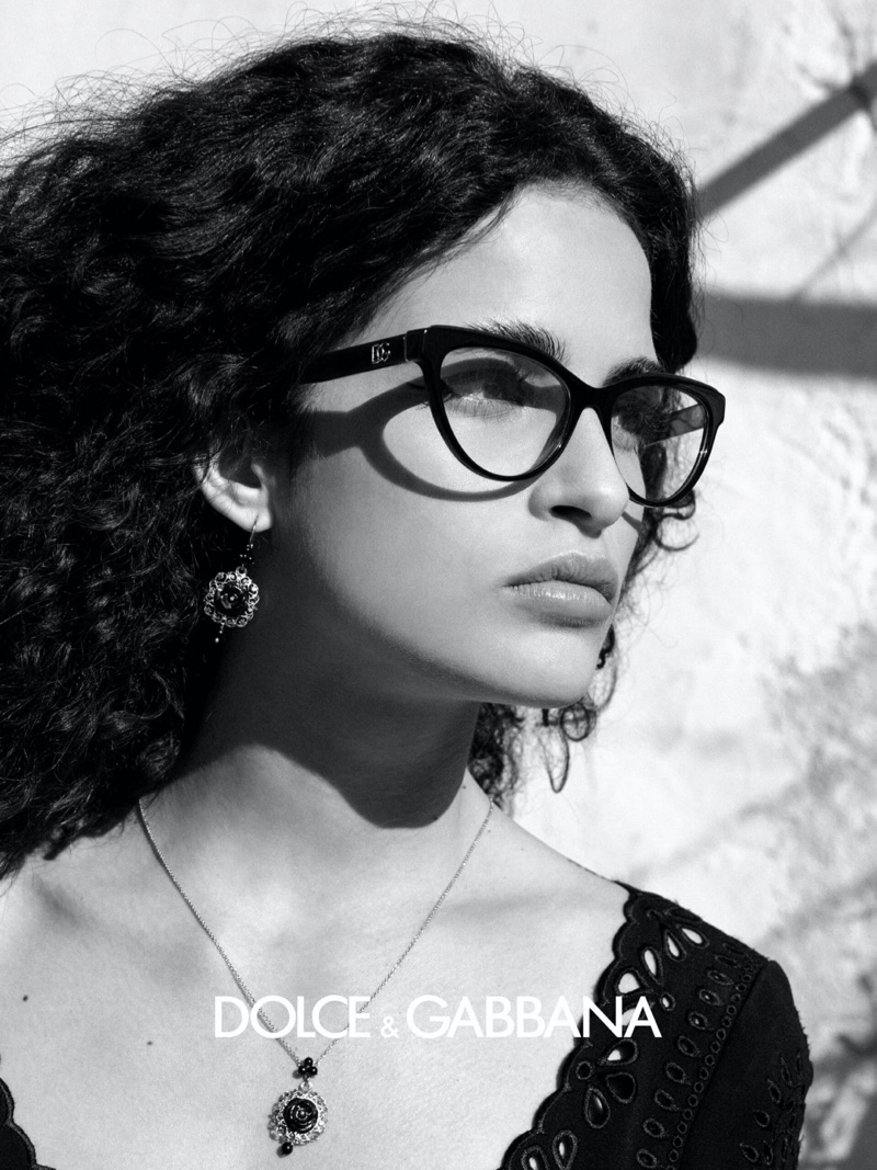 Dolce & Gabbana focuses on cat-eye frames for fall-winter 2020 eyewear campaign.